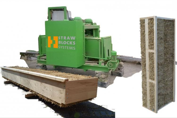 Straw Blocks Systems builds industrial and ecological with residual straw